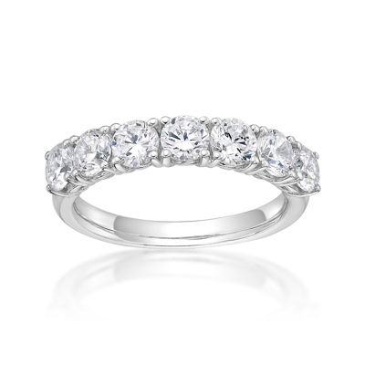 Diamonart Womens 2.5mm 1 5/8 CT. T.W. White Cubic Zirconia Sterling Silver Band