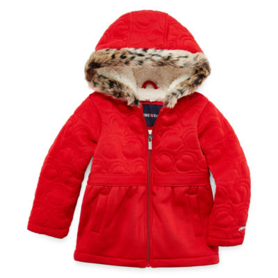 Limited Too Fleece Hooded Midweight Jacket-Toddler Girls
