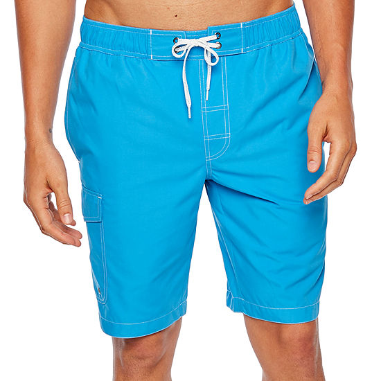 St. John's Bay Solid Cargo Swim Trunks