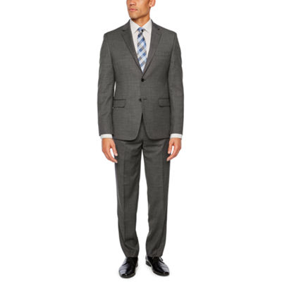 Collection by Michael Strahan Gray Birdseye Slim Fit Stretch Suit Separates