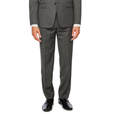 Collection by Michael Strahan Gray Birdseye Slim Fit Stretch Suit Jacket