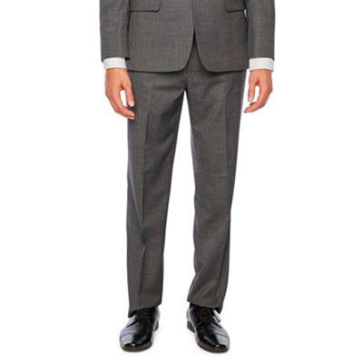 Collection by Michael Strahan Gray Birdseye  Classic Fit Suit Jacket