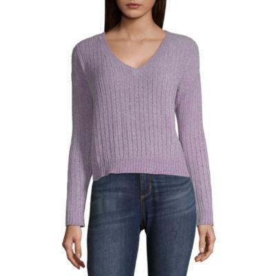 Brooklyn - Top Pick - Arizona Long Sleeve Cropped Sweater - Juniors