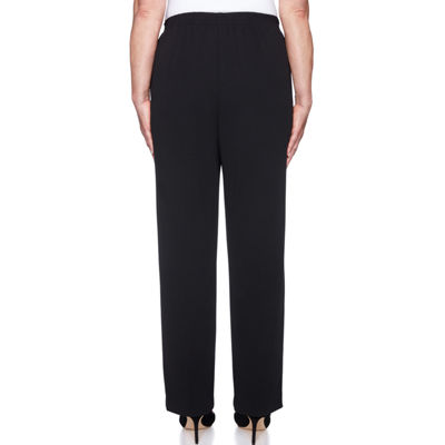 Alfred Dunner Sutton Place Womens High Waisted Straight Flat Front Pant