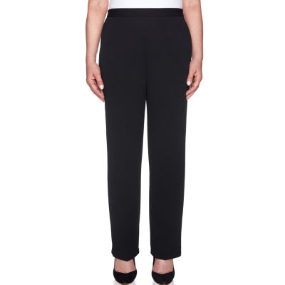 Alfred Dunner Sutton Place Knit Flat Front Pants