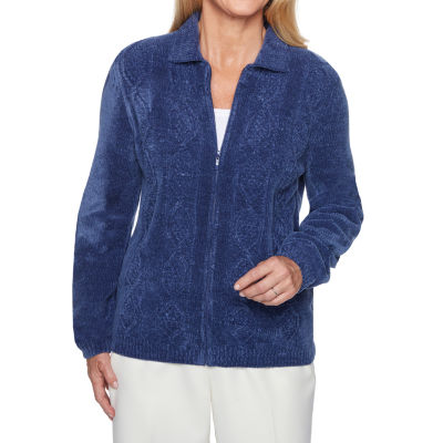 Alfred Dunner Classics Womens Long Sleeve Cardigan