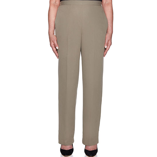 Alfred Dunner Autumn In New York Womens High Waisted Straight Pull-On Pants