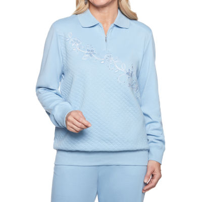 Alfred Dunner At Ease Long Sleeve Sweatshirt