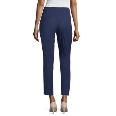 Liz Claiborne Side Zip Ankle Pant - Tall