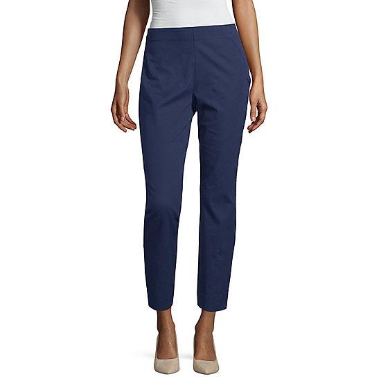 59e99844d1c8 Liz Claiborne Side Zip Ankle Pant - Tall - JCPenney