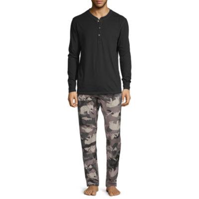 Stafford Mens Pant Pajama Set 2-pc. Long Sleeve