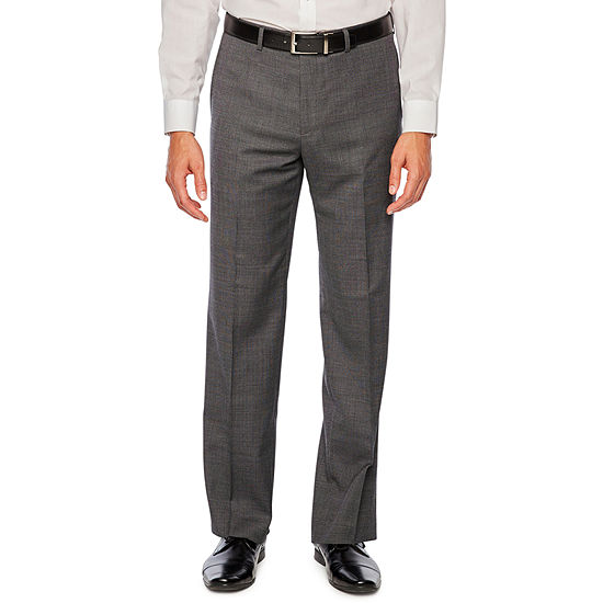 Collection by Michael Strahan Gray Birdseye Stretch Slim Fit Suit Pants