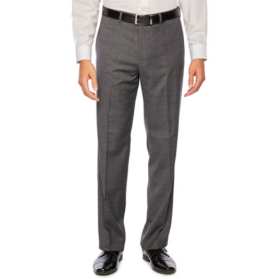 Collection by Michael Strahan Gray Birdseye Stretch Classic Fit Suit Pants