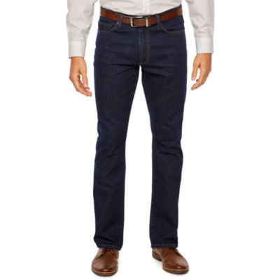 Collection by Michael Strahan  Mens Mid Rise Straight Fit Straight Leg Jean