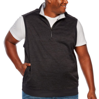 PGA TOUR Quarter Zip-Pullover Vest - Big and Tall