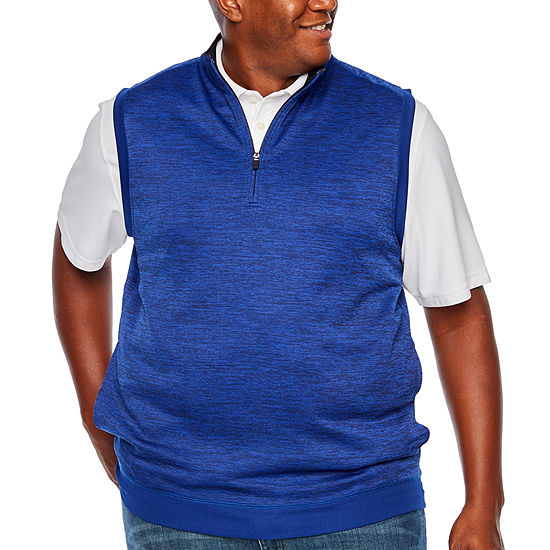 PGA TOUR Quarter Zip-Pullover Vest - Big and Tall