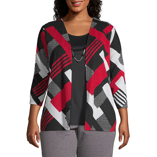 Alfred Dunner Sutton Place Patchwork Layered Blouse - Plus