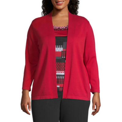 Alfred Dunner Sutton Place Geometric Dot Layered Blouse - Plus