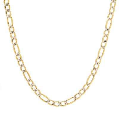 14K Gold 20 Inch Hollow Figaro Chain Necklace