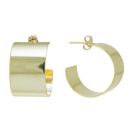 Gold Reflection 24K Gold Over Brass Hoop Earrings