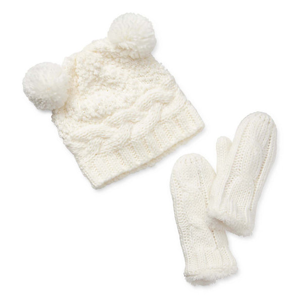 Mixit Mommy and Me Cozy Child Gloves and Beanie Set