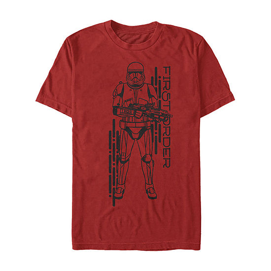 Rise Of Skywalker First Order Sith Trooper Mens Crew Neck Short Sleeve Star Wars Graphic T-Shirt