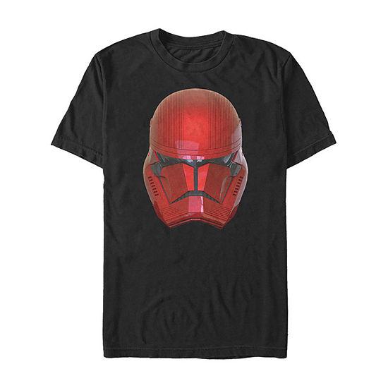 Rise Of Skywalker Sith Trooper Big Face Helmet Mens Crew Neck Short Sleeve Star Wars Graphic T-Shirt