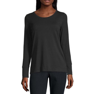 a.n.a-Womens Round Neck Long Sleeve T-Shirt