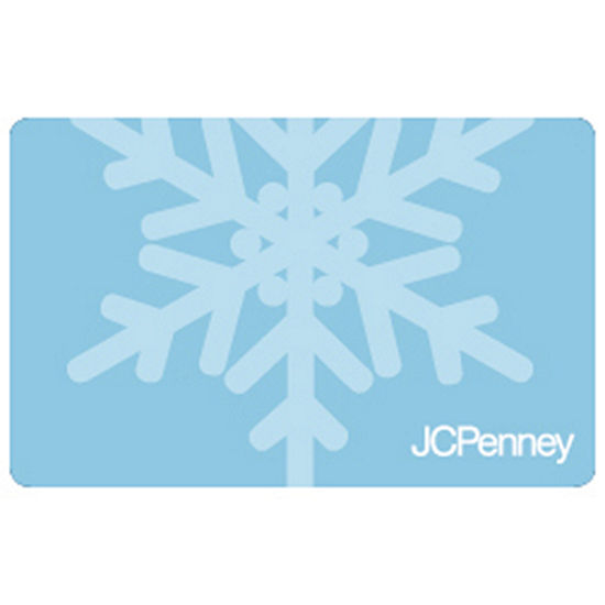 Blue Snowflake Gift Card