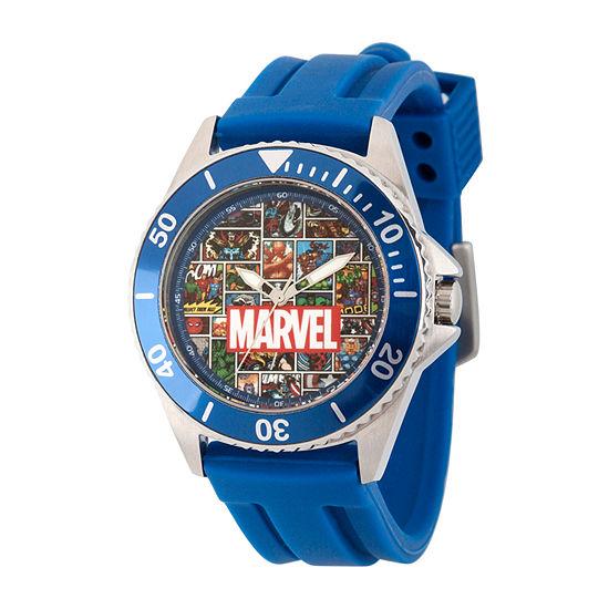 Spiderman Mens Blue Strap Watch-Wma000349
