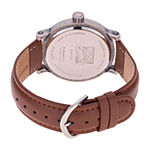 Marvel Marvel Mens Brown Leather Strap Watch-Wma000366