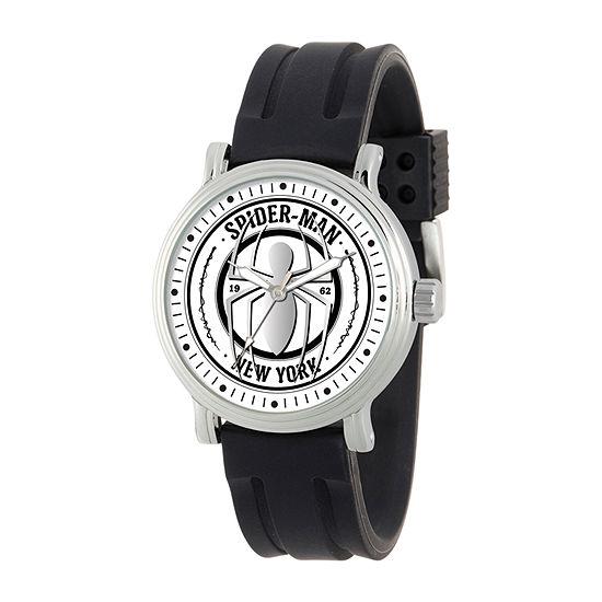 Marvel Marvel Mens Black Strap Watch-Wma000368