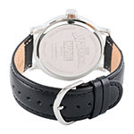 Spiderman Mens Black Leather Strap Watch-Wma000369