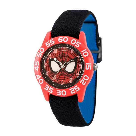 Marvel Marvel Boys Black Strap Watch-Wma000370