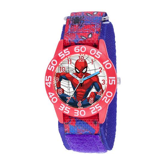 Marvel Spiderman Boys Blue Strap Watch-Wma000371