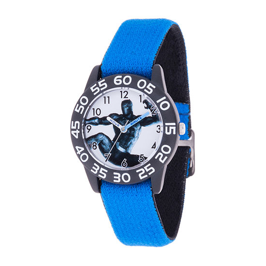 Marvel Black Panther Boys Blue Strap Watch-Wma000377