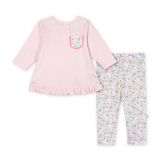 Just Born Girls 2-pc. Animal Pant Set Baby
