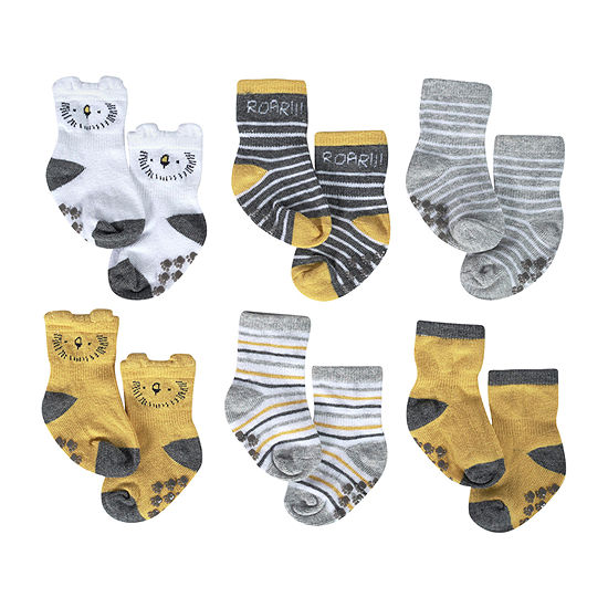 Just Born Baby Boys 6 Pair Crew Socks