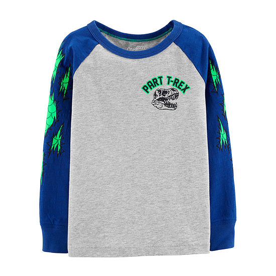 Oshkosh Boys Crew Neck Long Sleeve T-Shirt-Toddler