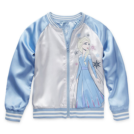 Disney Little & Big Girls Frozen Lightweight Bomber Jacket
