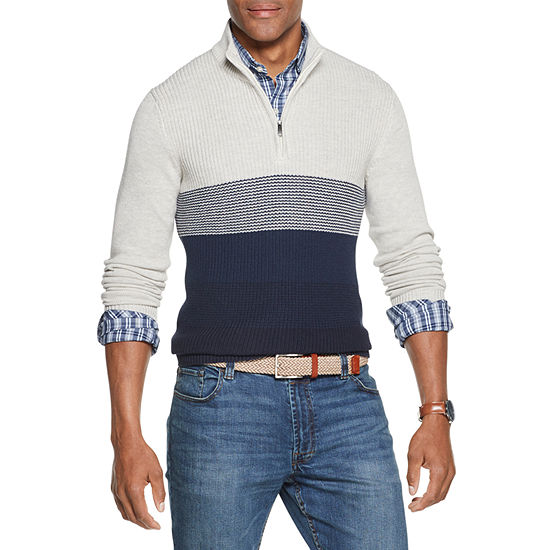 Van Heusen Flex Mock Neck Long Sleeve Pullover Sweater