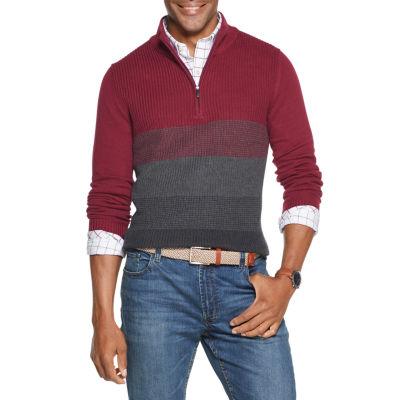 Van Heusen Flex Mock Neck Long Sleeve Pullover Sweater
