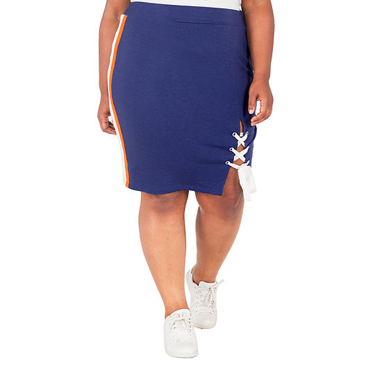 Poetic Justice Womens High Waisted Stretch Pencil Skirt-Plus