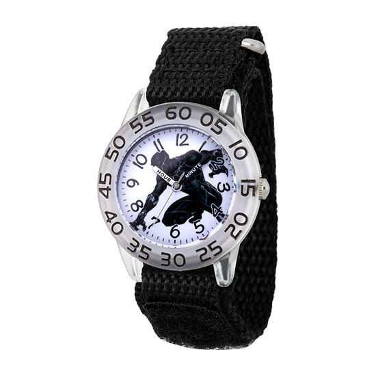 Marvel Marvel Boys Black Strap Watch-Wma000378