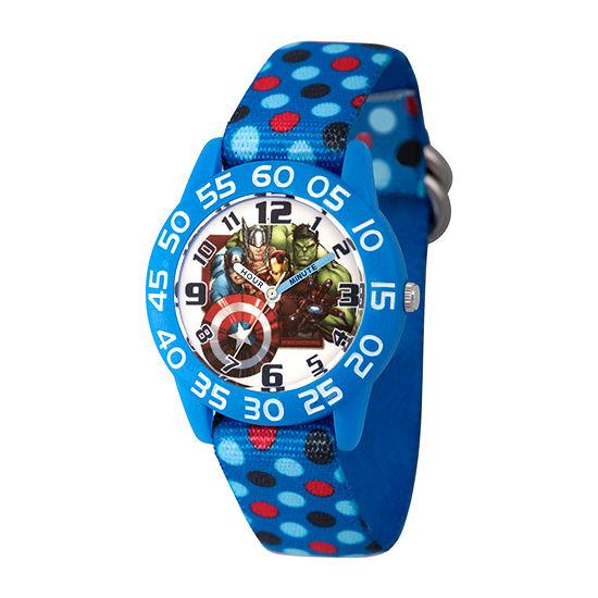 Marvel Thor Boys Blue Strap Watch-Wma000380