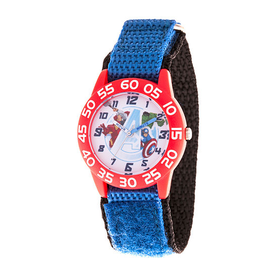 Marvel Iron Man Boys Blue Strap Watch-Wma000382