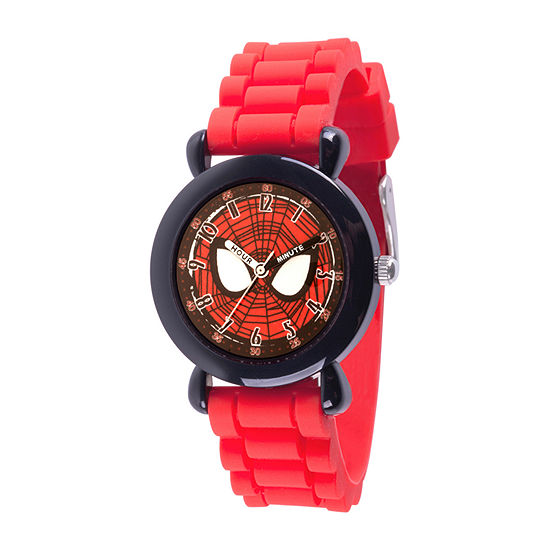 Marvel Spiderman Boys Red Strap Watch-Wma000384
