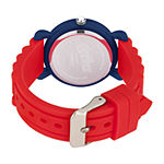 Marvel Captain America Boys Red Strap Watch-Wma000389