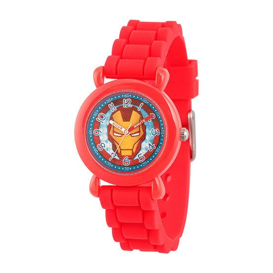 Iron Man Boys Red Strap Watch-Wma000390