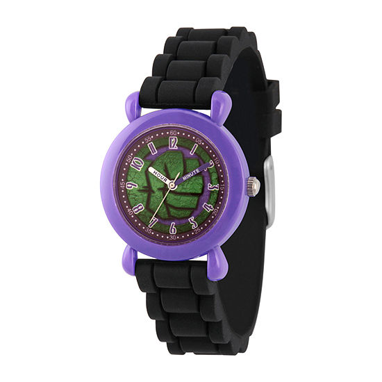 Marvel Hulk Boys Black Strap Watch-Wma000391